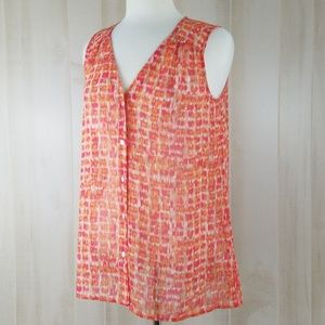 J. Jill Sleeveless Colorful Print Blouse